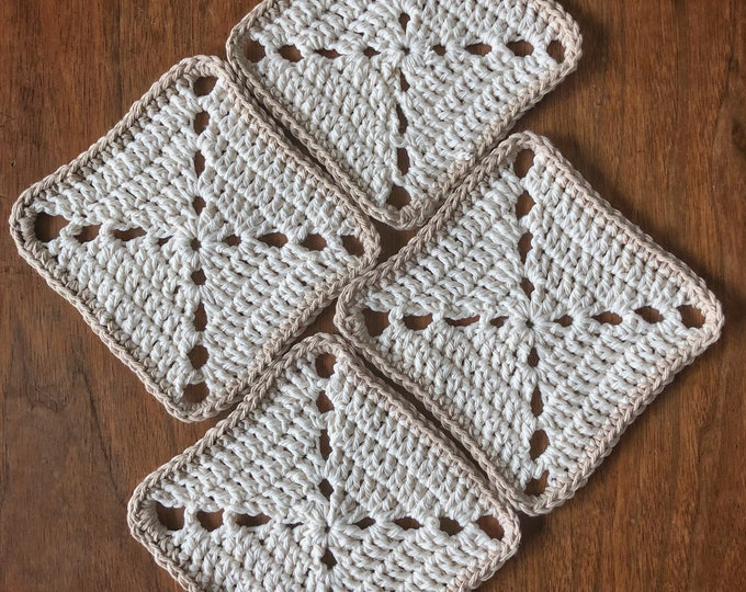 Set of 4 Cotton Coasters