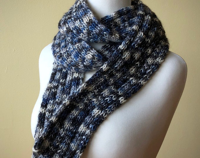 Hand-Knit Winter Scarf (Silk / Mohair / Cotton / Wool)
