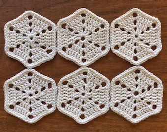 Set of 6 Hexagonal Coasters