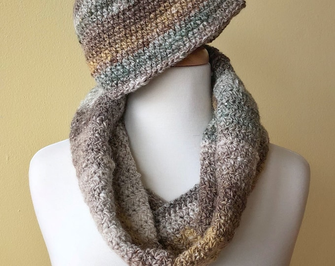 'Winter Wheat' Cap and Cowl Set