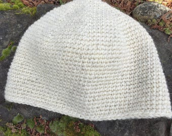 Undyed Wool Cap