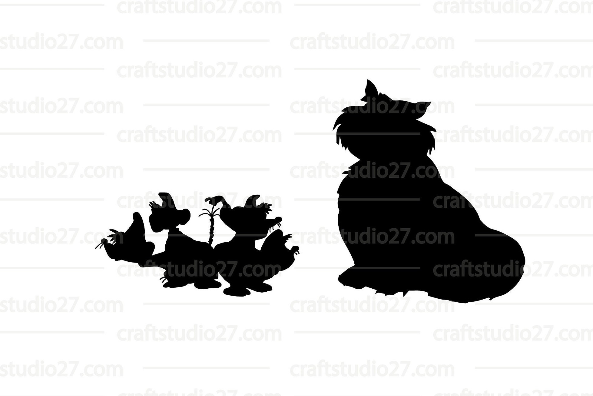Digital file direct download Disney Cinderella mice and | Etsy