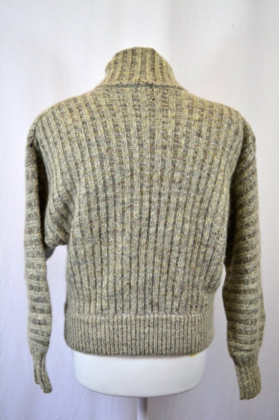 Retro Cropped Grey 80's 90's Cardigan Top - image 5