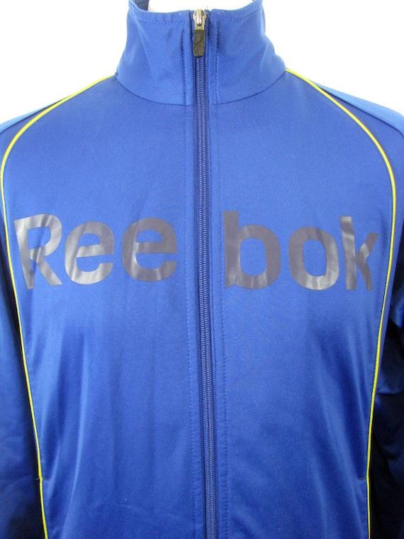 Reebok 90's Blue & Yellow Vintage Tracksuit Top R… - image 4