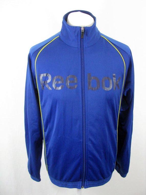 Reebok 90's Blue & Yellow Vintage Tracksuit Top Re