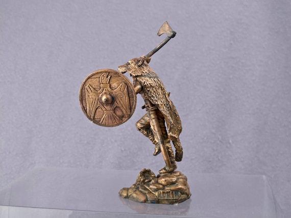 viking berserk Model 54mm collectible statue Copper figur sculpture 1 32