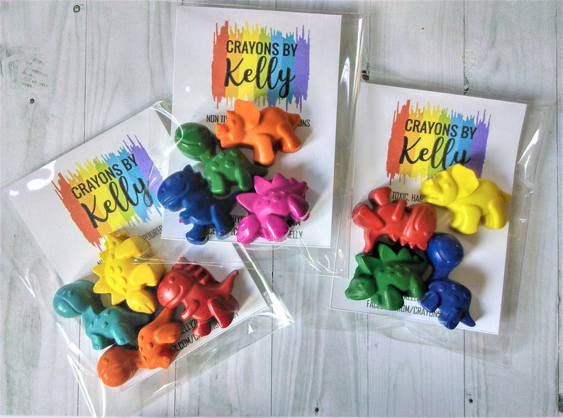 Dinosaur Shape Crayons, Dinosaur Party Favours, Party Bag Fillers, Kids  Gifts, Dinosaur Favours