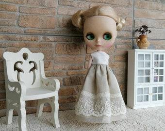 16 scale OOAK Wardrobe for Blythe  Pullip  Barbie  Vintage Furniture