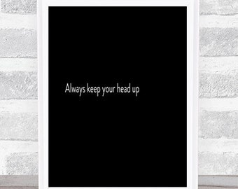 Keep Your Head Up Etsy