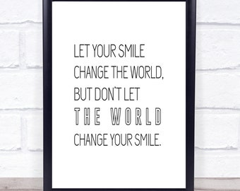 Smile Quote Etsy