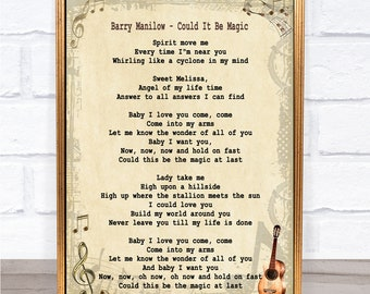 Barry Manilow Songs Etsy