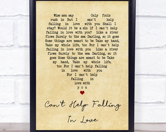 can t falling in love with you lyrics