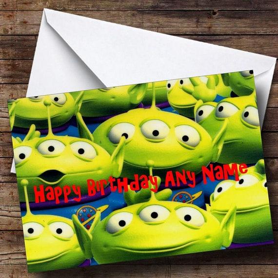 Toy Story Aliens Birthday Card Etsy