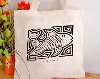 Ethnic Fish Tote Bag