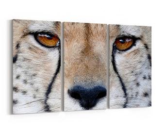 d58ff15da295a Cheetah Canvas Print Cheetah Wall Art Canvas Multiple Sizes Wrapped Canvas  on Wooden Frame