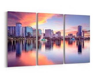 A Wall Art Canvas Picture Print Orlando Florida USA downtown city skyline 3.2