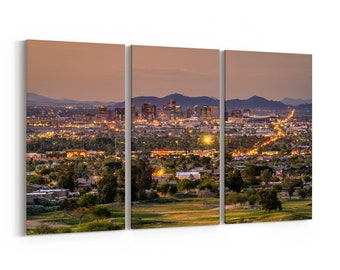 Phoenix Skyline Canvas Phoenix Canvas Wall Art Arizona Multiple Sizes Wrapped Canvas on Wooden Frame
