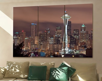 seattle wall art etsy
