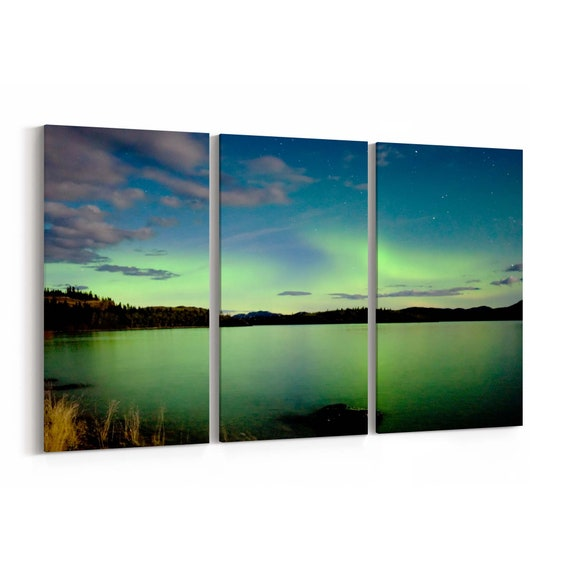 Northern Light Canvas Print Northern Light Canvas Art Multiple Sizes Wrapped Canvas on Wooden Frame