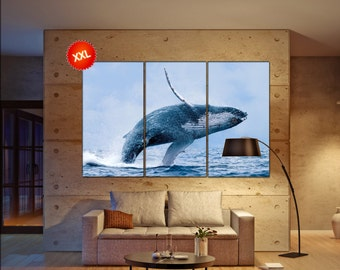 Whale  canvas wall art Whale wall decoration Whale canvas wall art art Whale large canvas wall art  wall decor