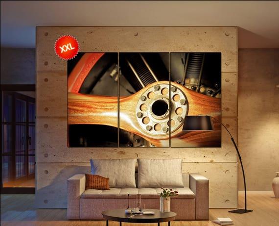Aircraft Propeller  canvas wall art art  large wall Aircraft Propeller print Office Decor Aircraft Propeller vintage