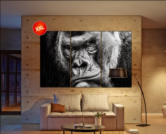 Gorilla wall art Gorilla canvas Gorilla canvas wall art Gorilla decor Gorilla wall decor Gorilla art Gorilla large wall art