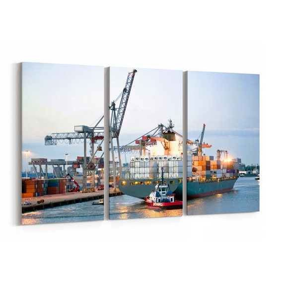 Ship Wall Art Canvas Ship Canvas Print Multiple Sizes Wrapped Canvas on Wooden Frame
