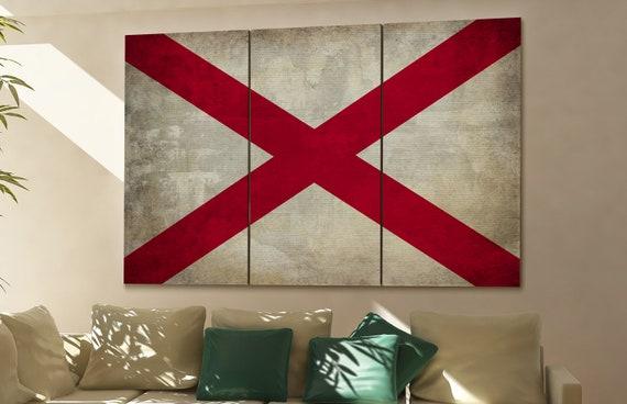 Alabama state flag Alabama flag state of Alabama Alabama wall decor Alabama wall art Alabama gift