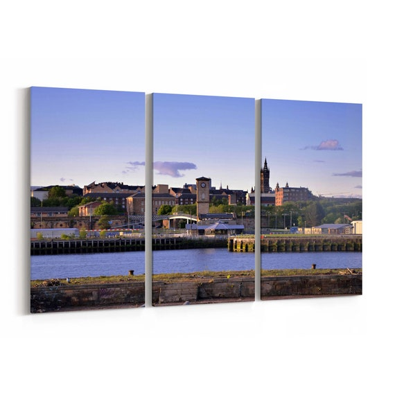 Glasgow Skyline Wall Art Canvas Glasgow Canvas Print Multiple Sizes Wrapped Canvas on Wooden Frame