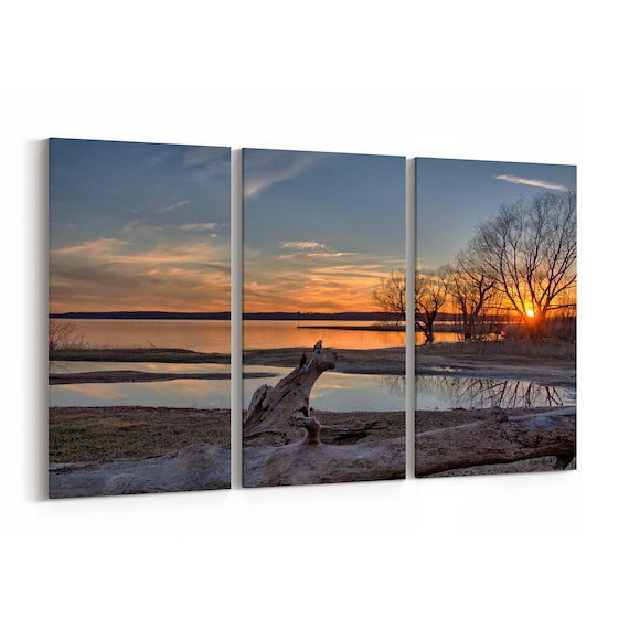 Lake Texoma Canvas Print Lake Texoma Wall Art Canvas Multiple Sizes Wrapped Canvas on Wooden Frame