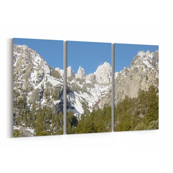 Mount Whitney Canvas Print Mount Whitney Wall Art Canvas Multiple Sizes Wrapped Canvas on Wooden Frame