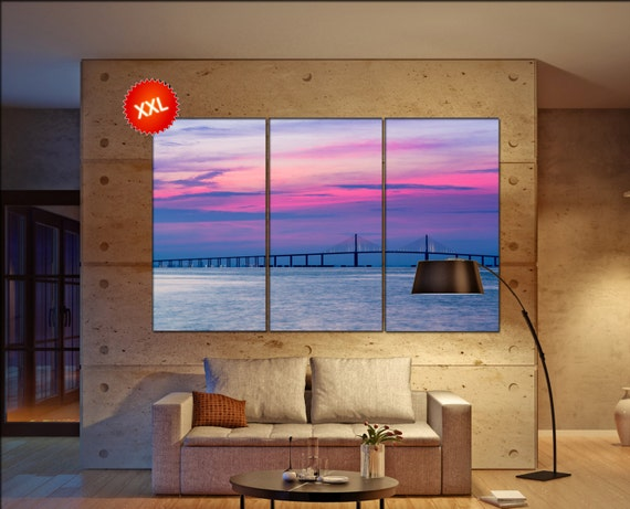 Skyway Bridge  canvas wall art  Skyway Bridge  wall decor canvas wall art  Skyway Bridge large canvas wall art wall decoration