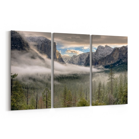 Yosemite Valley Canvas Print Yosemite Valley Wall Art Canvas Multiple Sizes Wrapped Canvas on Wooden Frame