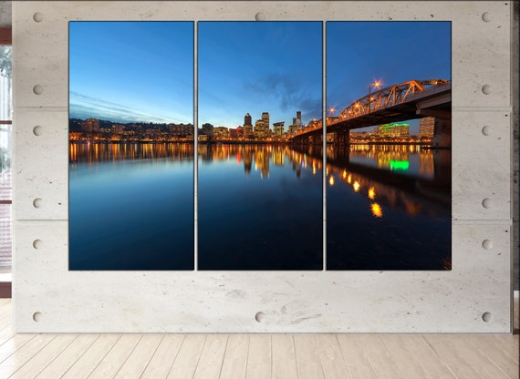 Portland canvas wall art  skyline Portland canvas wall art art Portland wall decoration xx large canvas wall art