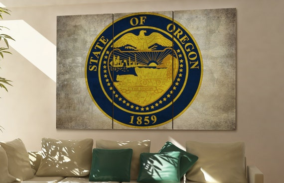 oregon seal flag  canvas oregon seal flag wall decoration oregon seal flag canvas art oregon seal flag large canvas