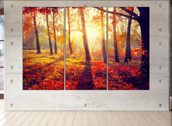Autumn forest canvas Autumn forest wall art Autumn forest canvas wall art Autumn forest decor Autumn forest wall decor Autumn forest art
