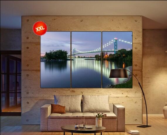 Ambassador bridge wall art Ambassador bridge art Ambassador bridge print