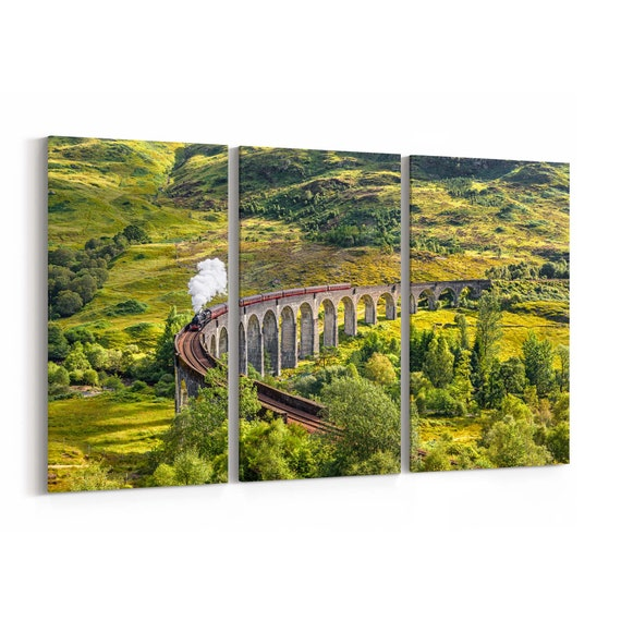 Steam Train Wall Art Canvas Steam Train Canvas Print Multiple Sizes Wrapped Canvas on Wooden Frame