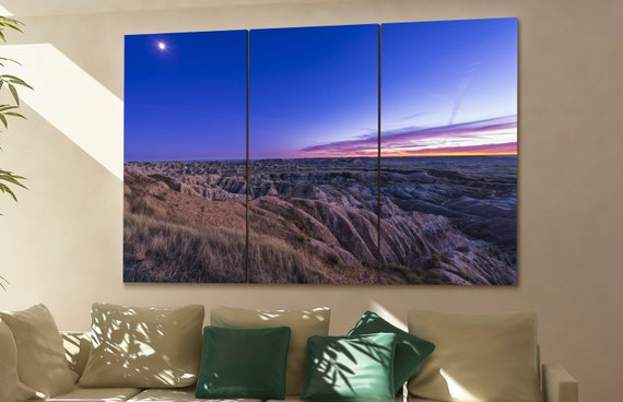 Badlands national park wall art Badlands national park canvas Badlands national park canvas wall art Badlands national park decor