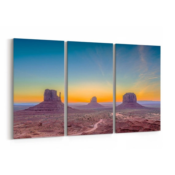 Monument Valley Skyline Wall Art Monument Valley Canvas Print Arizona Multiple Sizes Wrapped Canvas on Wooden Frame
