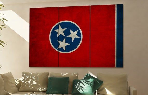 Tennessee state flag Tennessee flag state of Tennessee Tennessee wall decor Tennessee wall art Tennessee gift