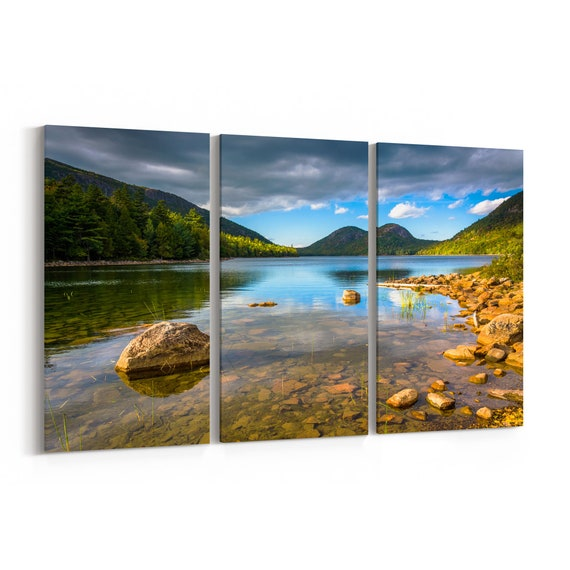 Acadia National Park Canvas Print Acadia National Park Wall Art Canvas Maine Multiple Sizes Wrapped Canvas on Wooden Frame