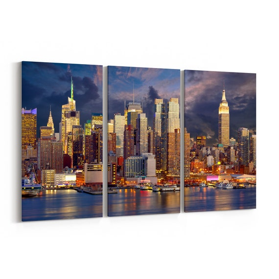 New York Canvas Art New York Wall Art Canvas New York Multiple Sizes Wrapped Canvas on Wooden Frame
