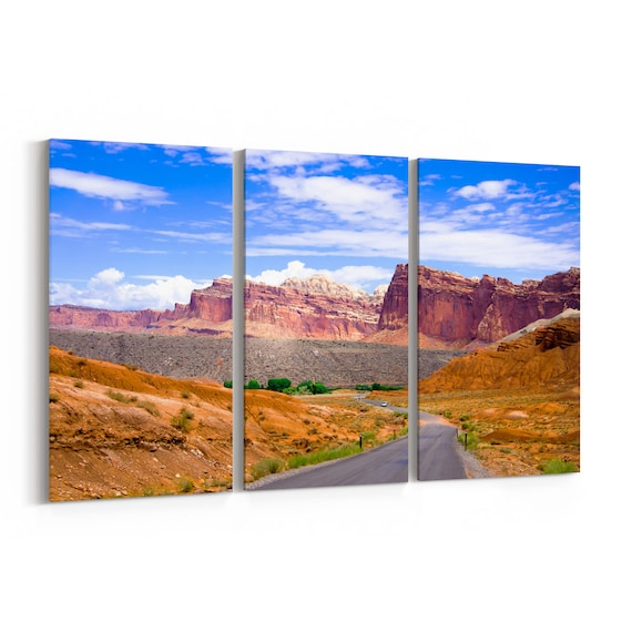Capitol Reef National Park Canvas Print Capitol Reef National Park Wall Art Canvas Multiple Sizes Wrapped Canvas on Wooden Frame