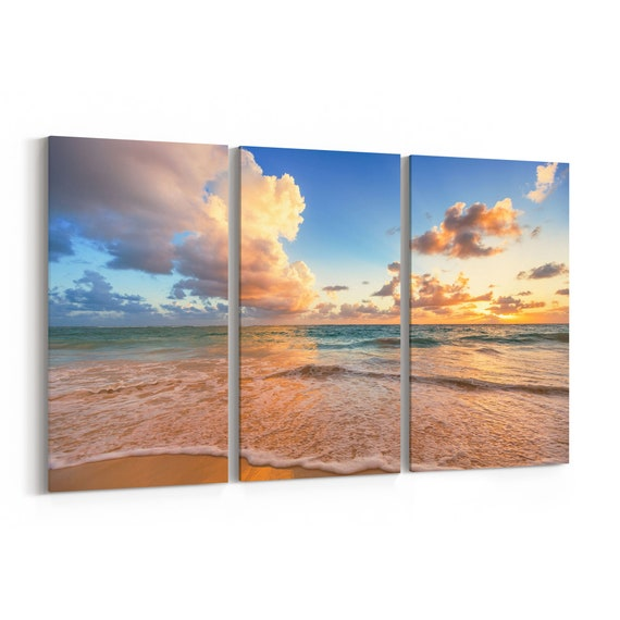 Caribbean Sea Canvas Print Caribbean Sea Wall Art Canvas Multiple Sizes Wrapped Canvas on Wooden Frame