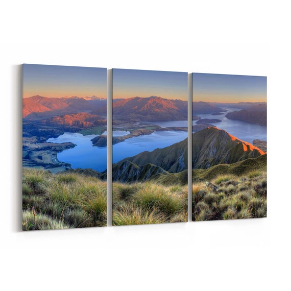Lake Wanaka Canvas Print Lake Wanaka Wall Art Canvas New Zealand Multiple Sizes Wrapped Canvas on Wooden Frame