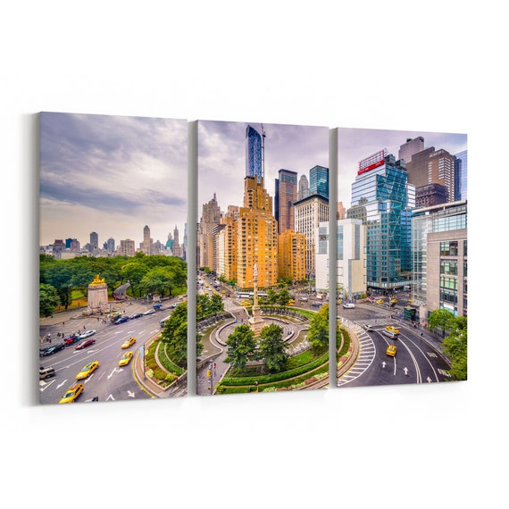 New York City Skyline Wall Art Canvas New York City Canvas Print Multiple Sizes Wrapped Canvas on Wooden Frame