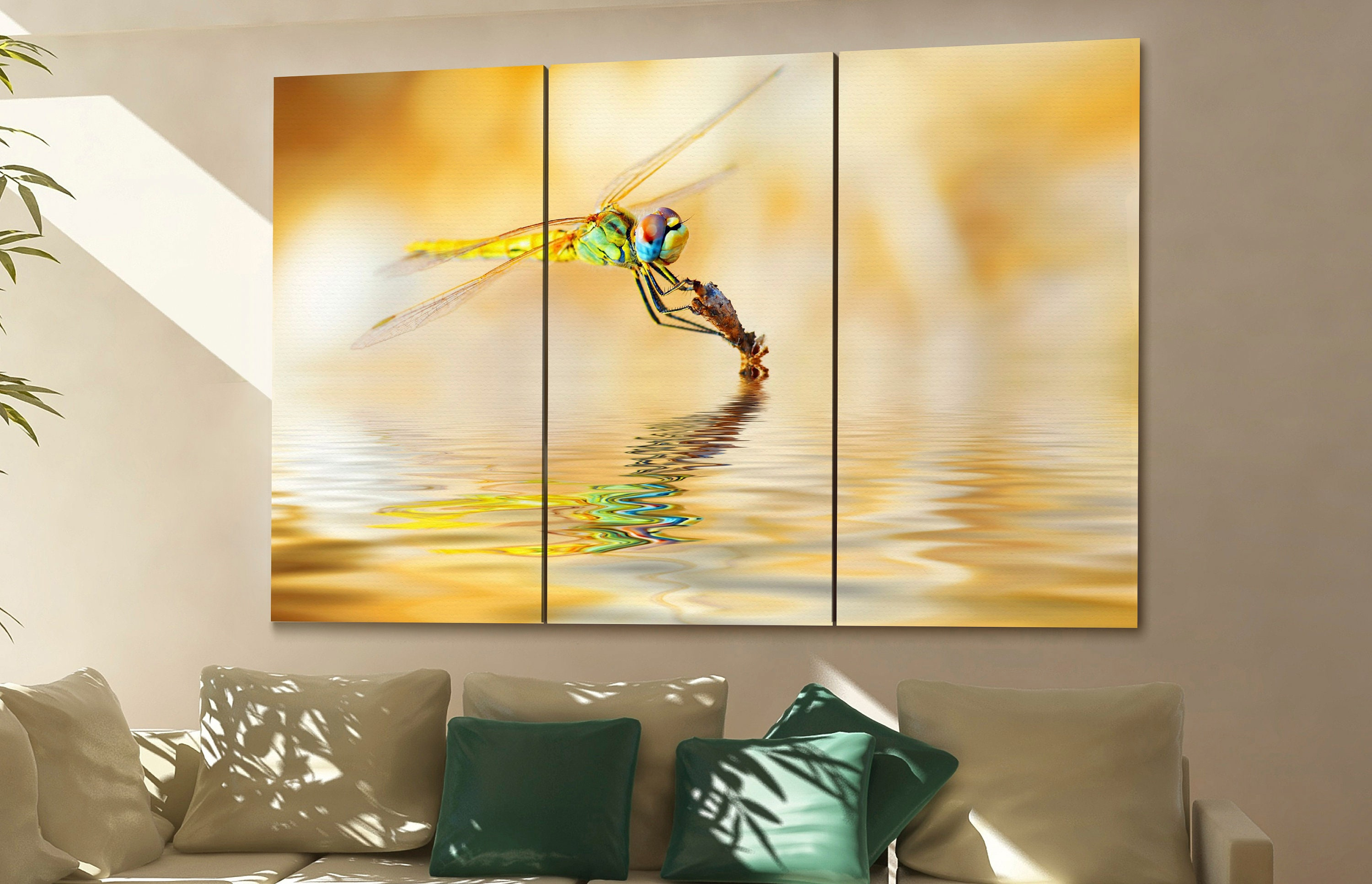 dragonfly wall art dragonfly canvas dragonfly canvas wall art ...