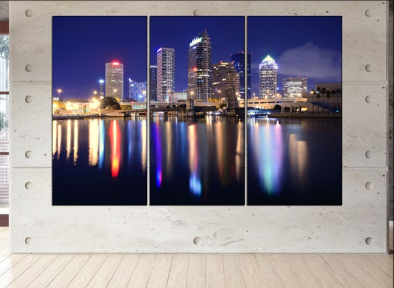 Tampa Bay  skyline Tampa Bay  wall art Tampa Bay  city Tampa Bay  art Tampa Bay  cityscape Tampa Bay  downtown Tampa Bay  canvas