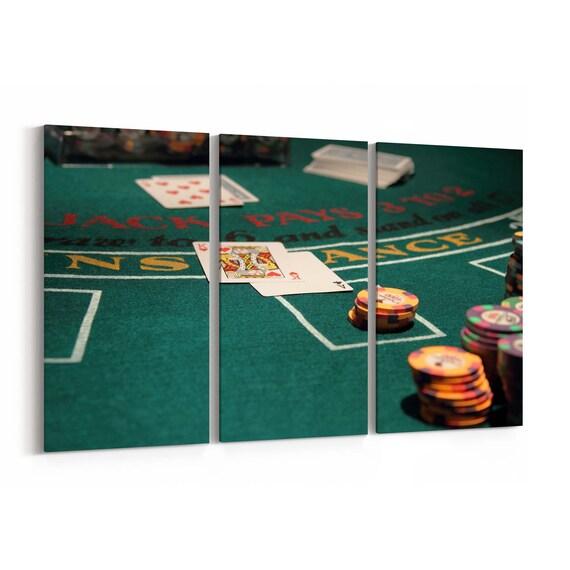 Blackjack Canvas Print Blackjack Wall Art Canvas Multiple Sizes Wrapped Canvas on Wooden Frame